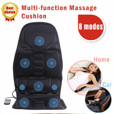 Massage Chair Heated Back Seat Massager Cushion Van Stress Relax For Car Home