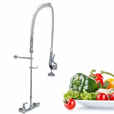 Commercial Kitchen Wall Mount Pre Rinse Faucet Wash Rstaurant Hotel Home Bar