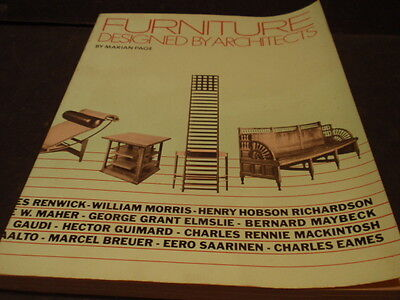 Furniture Designed By Architects.... 1983 Whitney Library Of Design Edition