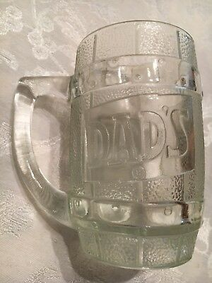 Dads Root Beer Barrel Vintage Thick Glass Mug - great shape
