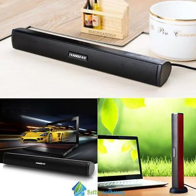 Mini USB Audio Sound Bar Stereo Speaker Portable for Laptop Computer PC Notebook