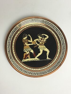 Copper Wall Hanging Greek Handicraft Warriors Toga Plate Kepameikh Xeipotexnia