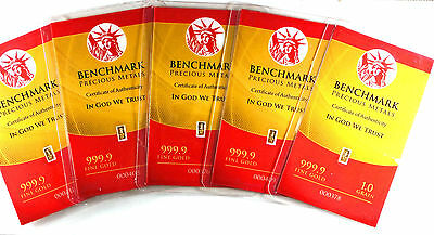 GOLD BULLION TIMES 5 PURE 24K GOLD BARS B8fs SHIPS FREE IF YOU BUY 2 OR MORE