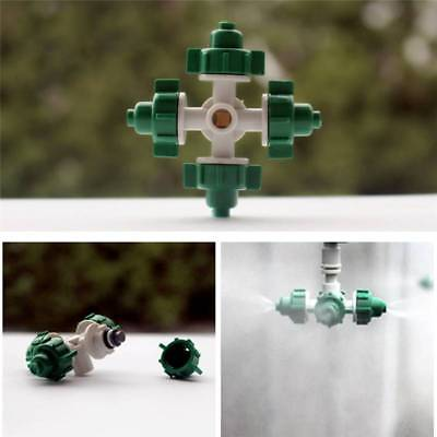 10PCS Micro Irrigation Atomization Spray 4Head Micro Nozzles Greenhouse Garden