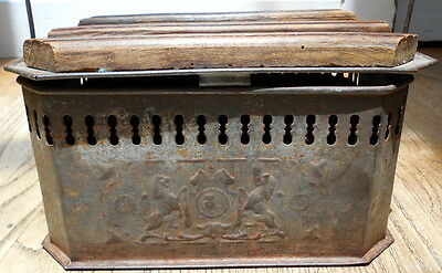 FRENCH BED WARMER- late 19th Century-RARE~ wood & iron DECORATIVE & CHARMING