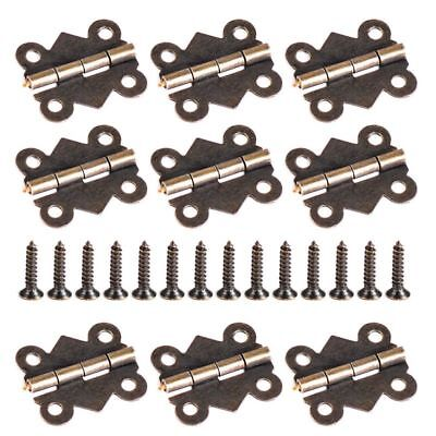 20/40 20x17mm Small Hinge With Screws Antique Brass Jewelry Box Hinge Butterfly