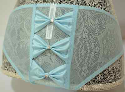 Victorias Secret Panty Bling I Do Bride Wedding Marriage Blue Honeymoon Small