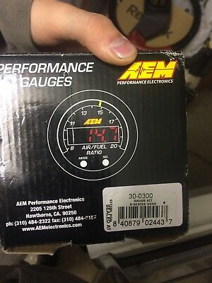 AEM 30-0300 X-Series Wideband Air Fuel Ratio Sensor Controller Gauge AFR SALE
