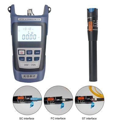 Fiber Optical Power Meter & 10Mw 10-12km Visual Fault Locator Optic Cable Tester
