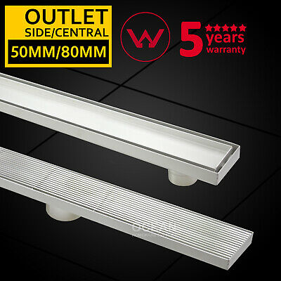 600-1800mm 304 Stainless Steel Tile insert Linear Shower Grate Floor Waste Drain