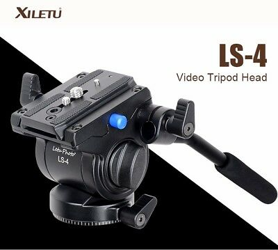 XILETU LS-4 Handgrip Video Photography Fluid Drag Hydraulic Tripod Head
