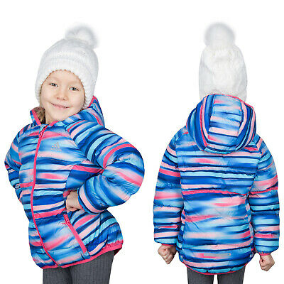Adidas Multicolor Baby Girls Junior Winter Hooded Jacket Coat Reflective
