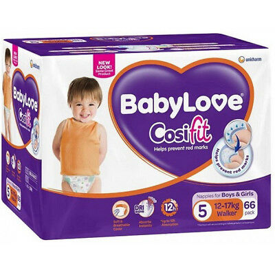 BabyLove Cosifit Nappies Walker Jumbo Pack 66
