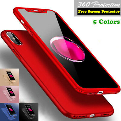 Ultra Thin Hard Case Cover For iPhone X 6 6S 7 8 iPhone8 Plus + Screen Protector