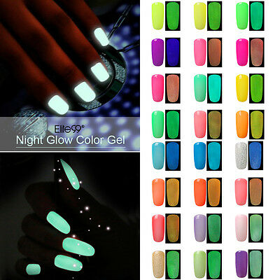 Smalto Fluorescente Elite99 UV/LED Gel Lucido per Unghie Semipermanente 10ML