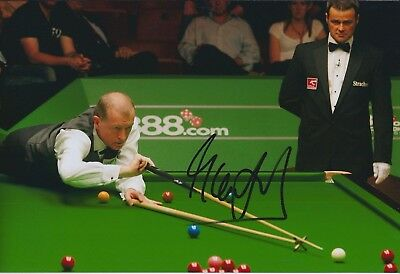 Steve DAVIS AUTOGRAPH 12x8 Signed Photo AFTAL COA SNOOKER Welsh OPEN Winner