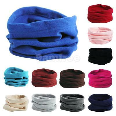 Trendy Polar Fleece Neck Warmer Comfy Snood Scarf Ski Motorbike Mask Caps