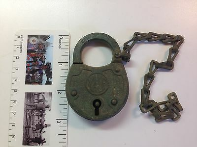 Vintage Antique Old Yale & Towne Lock Co. Brass Padlock- NO KEY- Stamford, Conn.