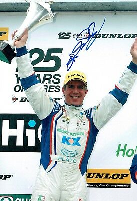 Jason PLATO British Touring Car SIGNED 12x8 Podium Photo AFTAL Autograph COA
