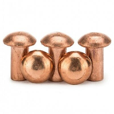 M2 M2.5 M3 Copper Round Button Pan Head Solid Rivets Nuts Insert Fasteners 50Pcs