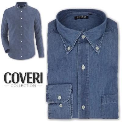 Camicia uomo in jeans botton down regular fit COVERI COLLECTION