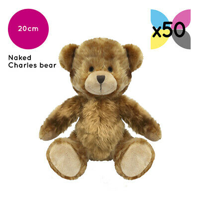 50 Brown Charles Teddy Bears Without Clothing Blank Plain Soft Toy Plush Bulk
