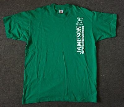 Jameson Whiskey T Shirt Men's XL Enjoy The Irish Spirit Green