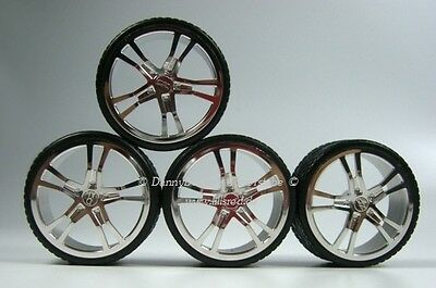 "19 "" echtalu Rims with V Tread Tires 1:18 for Audi R8 kyosho"
