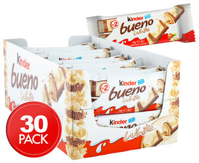 30 x Kinder Bueno White Chocolate Bar 39g