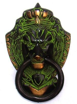 Vintage Style brass made Lion Head Jungle King with Crown Door Knocker Door Pull