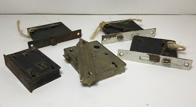 Vintage Lot of  5 Mortise Entryway Locks with Original Skeleton Keys Corbin