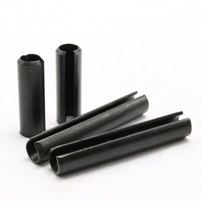 M3 M4 Carbon Steel Slotted Spring Tension Pins Sellock Roll Pins Black Select