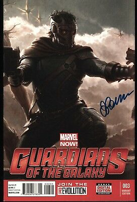 Guardians Of The Galaxy #3 1:25 Movie Variant Signed Justin Ponsor Marvel Comics