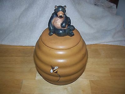 Honour  Beehive   And Bear  Cookie Jar Canister