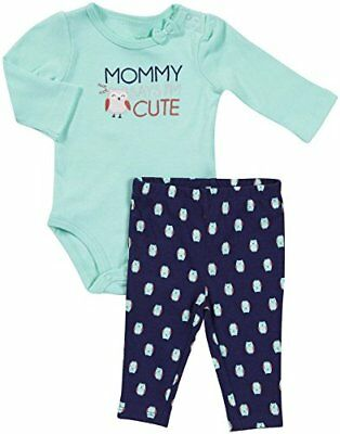 Carter's Baby Girls' Mommy Says I'm Cute- Turquoise - 6 Months