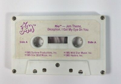 Jem and the Holograms RIO cassette tape accessory vintage Hasbro 1980s