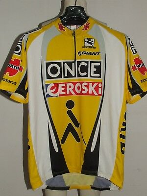BIKE CYCLING JERSEY SHIRT MAILLOT CYCLISM TEAM ONCE EROSKI GIORDANA size 3XL 924417b81