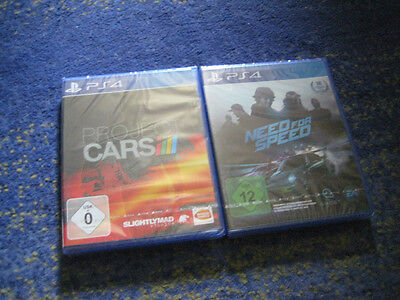PS4 / Sony Playstation 4 Spiel - Project Cars und Need for Speed NEUWARE