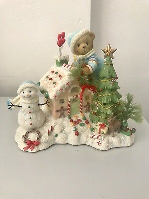 """Cherished Teddies Christmas Musical Figurine """"Anders"""" *Battery box does not work"""