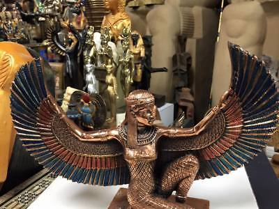 Unique Hand Made  Egyptian Goddess Isis  Copper Wash Made In Egypt