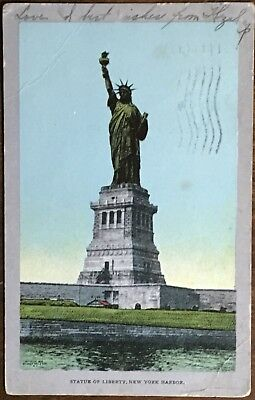K483 New York City New York NY NYC 1907 Statue of Liberty Vintage PC