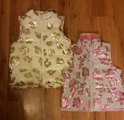 Lot of 2 - Girls Vest Size 7-8 Very Cute. Floral Crazy 8 crazy8