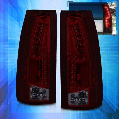 Led Tail Lights Lamp Red/Smoke For 88-98 Chevy Gmc C/K C10 Suburban Blazer Tahoe