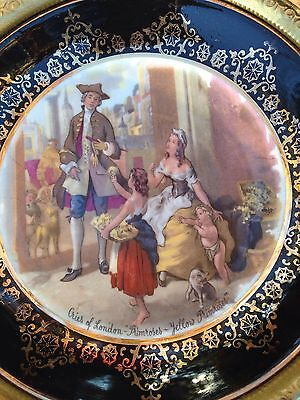 "Vintage 3 Wall Plates Perforated Brass ""cries Of London"" England"