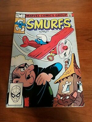 Vintage Bronze Age Smurfs Marvel Comics Group Comic Book