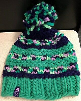 The North Face Women's (Teen-Adult) Teal, Navy & Pink Winter Knit Hat- NEW!