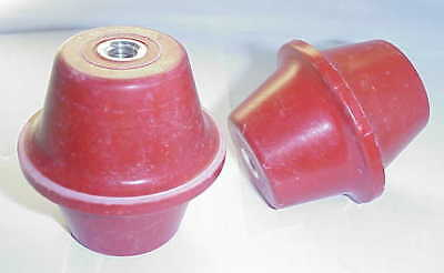"Glastic 1872-1A  Cherry Standoff Insulator Isolators 3/8-16 X 2 1/2"" (Qty 2) New"