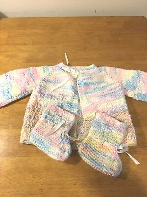 Knitted Baby Sweater 6-12 Months New Beautiful hand made