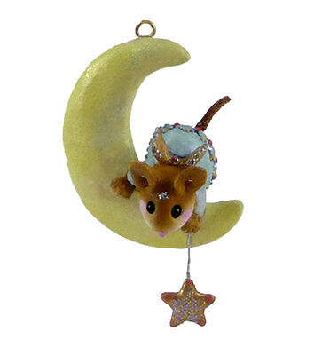 MY LITTLE STAR Mouse Ornament by Wee Forest Folk, WFF# CO-9, BLUE