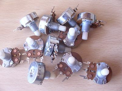 15x Potentiometers Job Lot for Solid Shaft Guitar and other Applications Pots